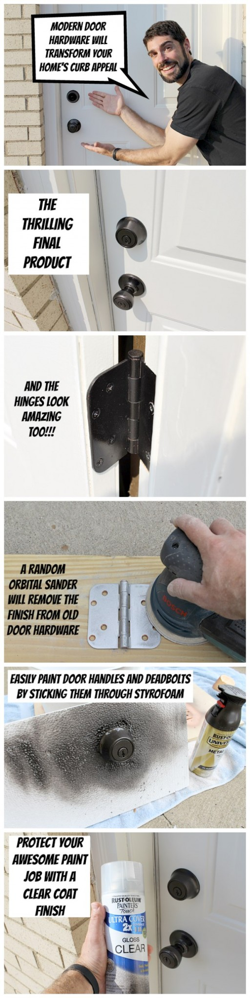 How to easily refinish door hardware step by step DIY tutorial instructions