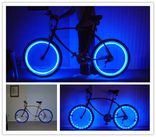 How to make DIY LED bicycle rim lights step by step tutorial instructions