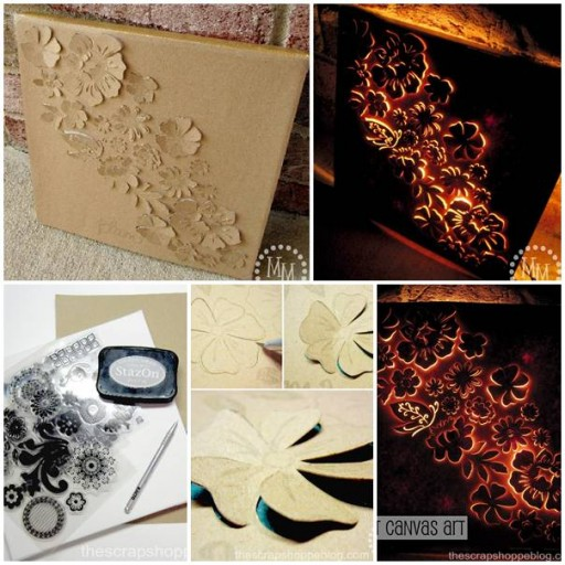 How to make DIY backlit canvas art step by step tutorial instructions