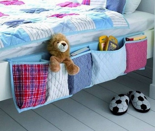 How to make DIY bed side organizer step by step tutorial instructions