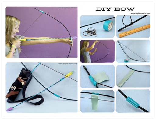 How to make DIY bow and arrow archery step by step tutorial instructions