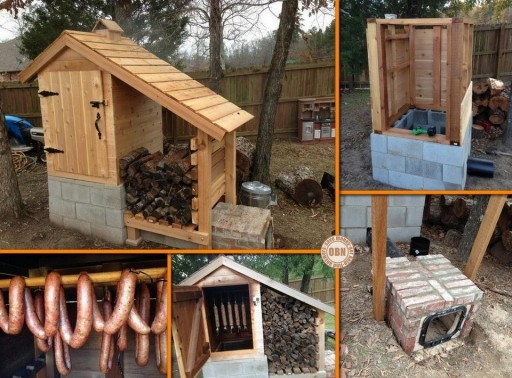 How to make DIY cute cedar smokehouse step by step tutorial instructions
