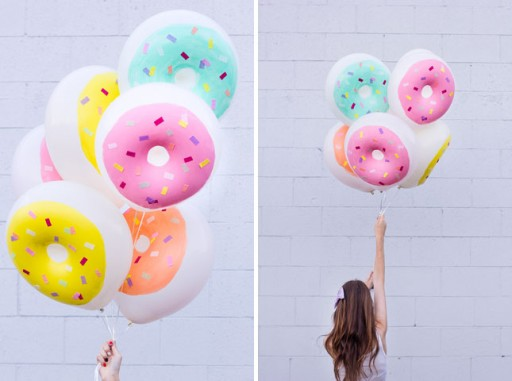 How to make diy donut balloon decoration step by step for Balloon decoration instructions
