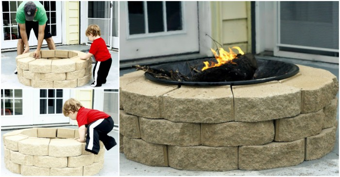 How to make DIY fire pit step by step tutorial ...