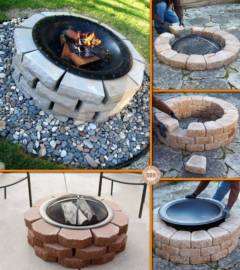 how to make diy fire pit step by step tutorial