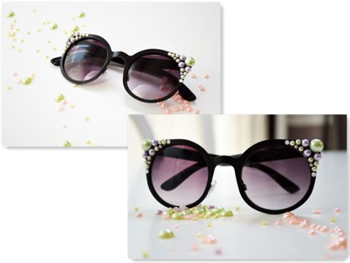 How to make DIY pearl sunglasses decoration step by step DIY tutorial instructions