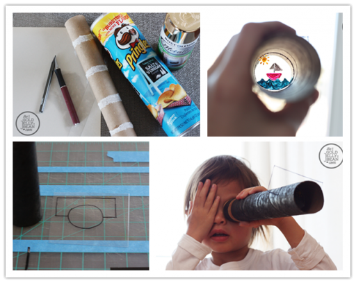 How to make DIY telescope craft toy step by step tutorial instructions
