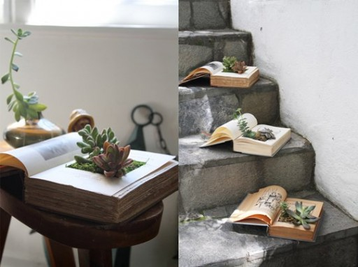 How to make a DIY book planter step by step tutorial instructions