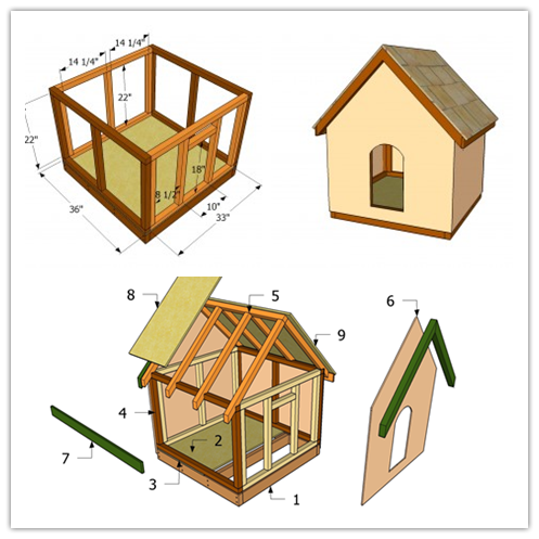 step by step instructions to build a dog house plans for
