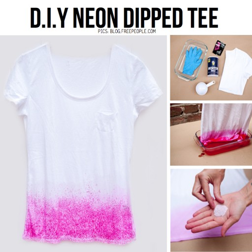 How to make beautiful DIY dip dye tee step by step tutorial instructions
