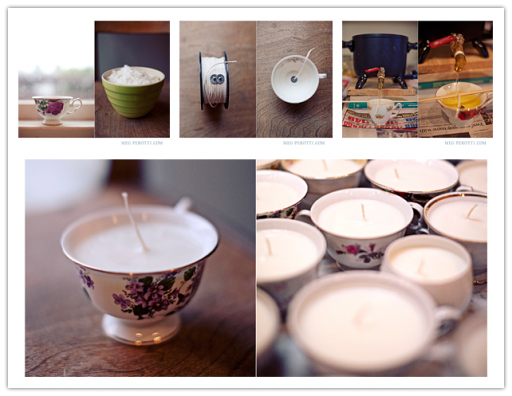How to make beautiful DIY teacup candles step by step tutorial instructions