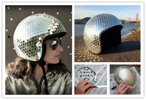 How to make cool DIY disco ball helmet step by step tutorial instructions