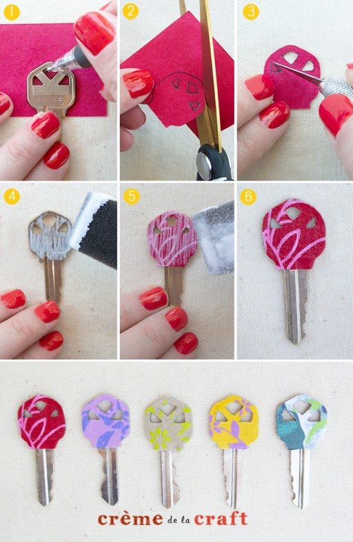 How to make gorgeous personalized key makeover step by step DIY tutorial instructions