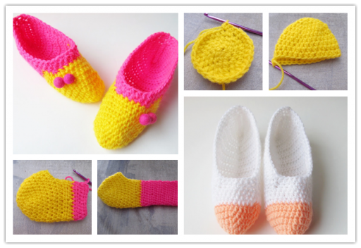 How to make lovely DIY crochet slippers step by step tutorial instructions