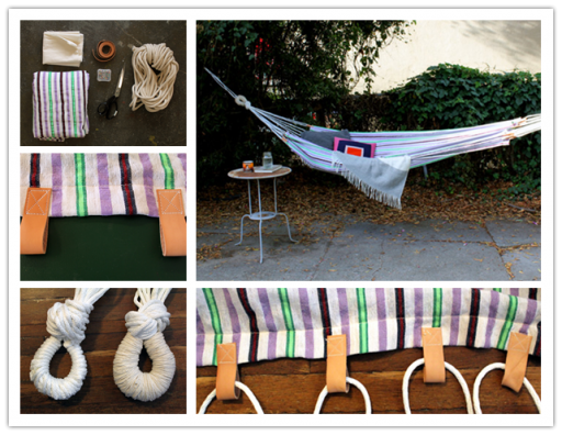How to make simple DIY summer hammock step by step tutorial instructions