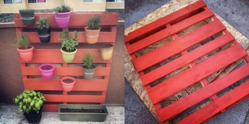 How to make simple DIY vertical pallet garden step by step tutorial instructions