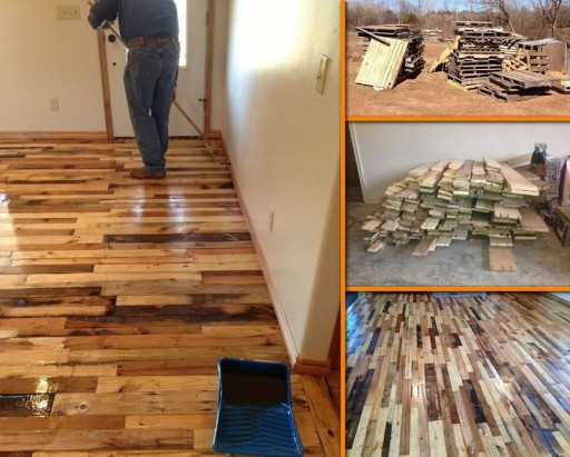How to turn used pallets into hardwood floor step by step DIY tutorial instructions