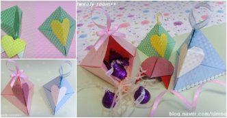 Triangle Heart Lock Gift Box