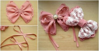 lovely bow hairpin