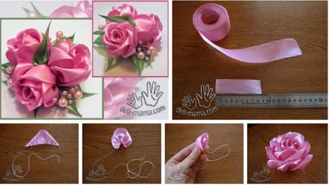 how-to-make-simple-quick-satin-ribbon-rose