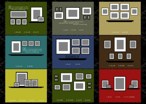 How to arrange photo gallery frame wall layouts 2