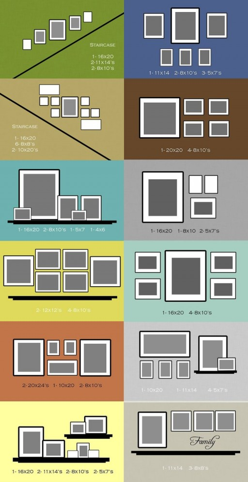 How to arrange photo gallery frame wall layouts