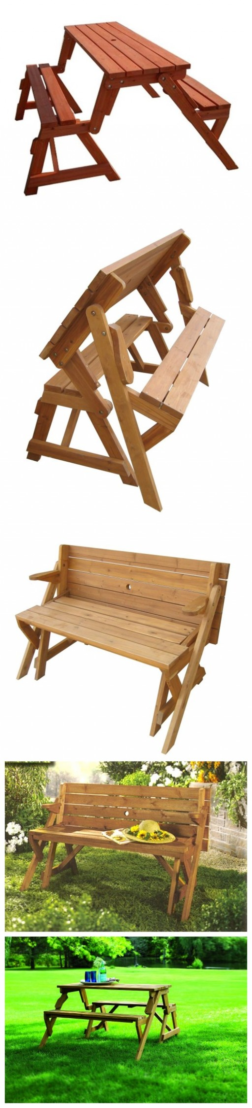 ... In 1 Convertible Folding Bench And Picnic Table | Apps Directories