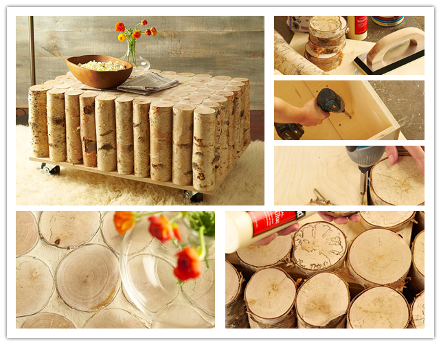 How to build a diy birch log coffee table step by step for Instructions on how to build a table