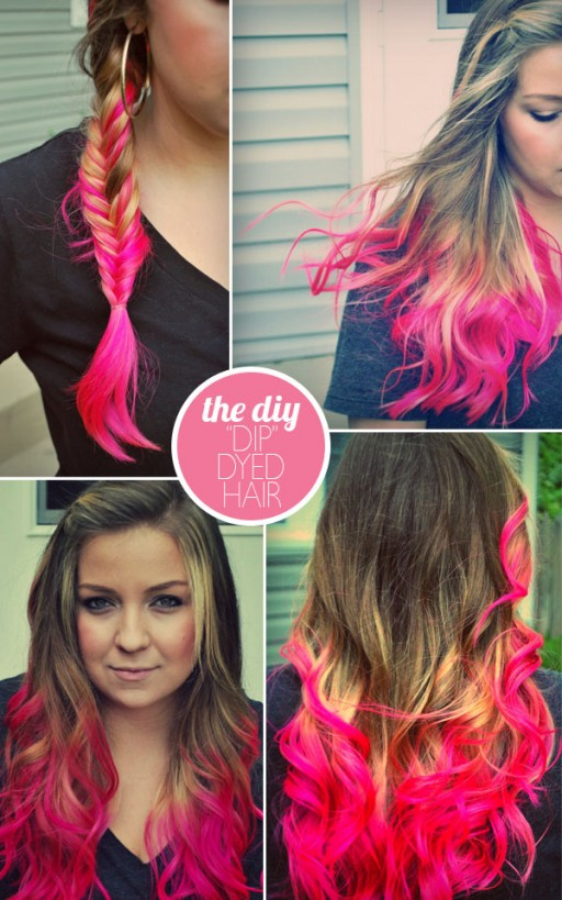 How to do DIY deep dyed hair style step by step tutorial instructions