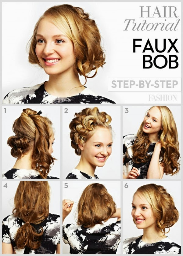 How to do DIY short curly hairstyle step by step tutorial ...