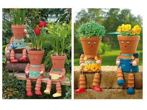 How to make DIY clay pot flower people step by step tutorial instructions