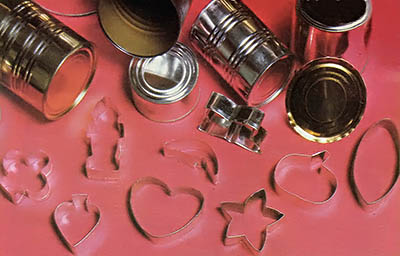 How to make diy cookie cutters with recycled tin cans step for Can you recycle cookie tins