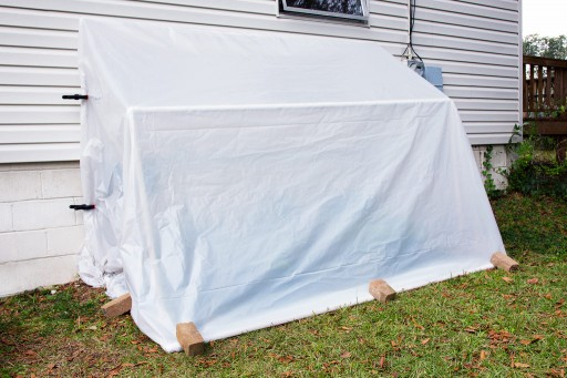 How to make DIY fold-down convertible greenhouse step by step tutorial instructions 2
