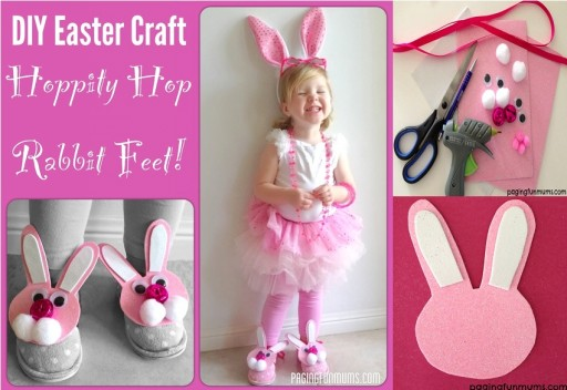 How to make DIY hoppity hop rabbit feet shoe decor step by step tutorial instructions