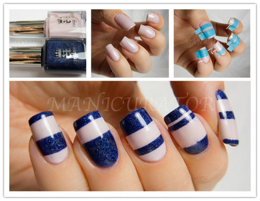 How to make DIY stripe nails step by step tutorial instructions