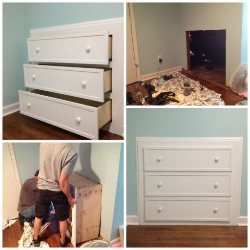 How to make a DIY built in dresser