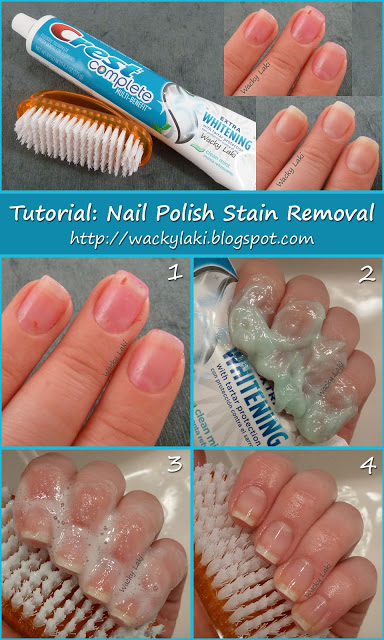 How to remove nail polish stain with toothpaste