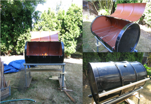 How to turn an barrel into an outdoor BBQ grill by step DIY tutorial instructions