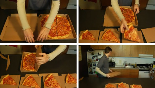 How to use pizza box the green way