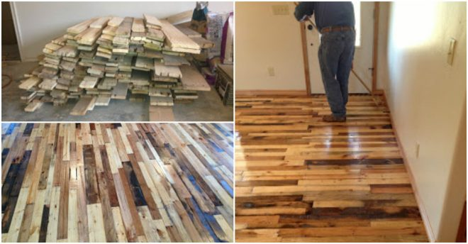 turn used pallets into hardwood floor
