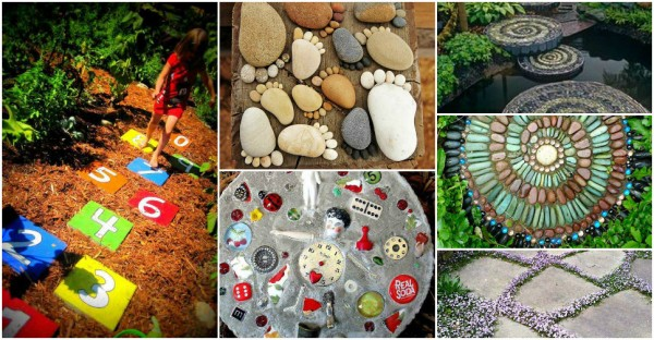23 DIY garden stepping stone ideas 1