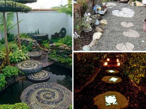 23 DIY garden stepping stone ideas