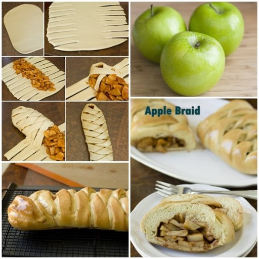 Culinary school How to make delicious apple braid step by step DIY tutorial instructions