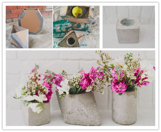 How to make DIY cement centerpieces step by step tutorial instructions