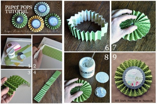 How to make beautiful paper pops