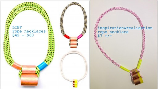 How to make cute DIY Leif necklace step by step tutorial instructions