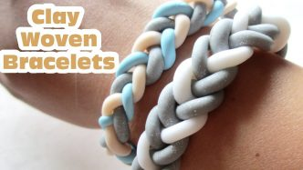 How To Make DIY Polymer Clay Woven Braided Bracelets
