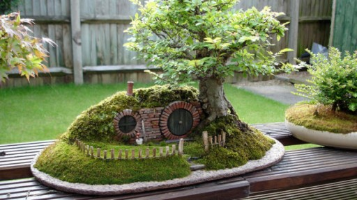 How to make DIY baggins bonsai hobbit home 1