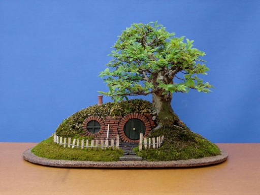 How to make DIY baggins bonsai hobbit home 2