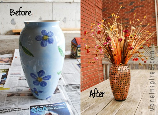 How to make DIY lucky penny vase step by step tutorial instructions 1